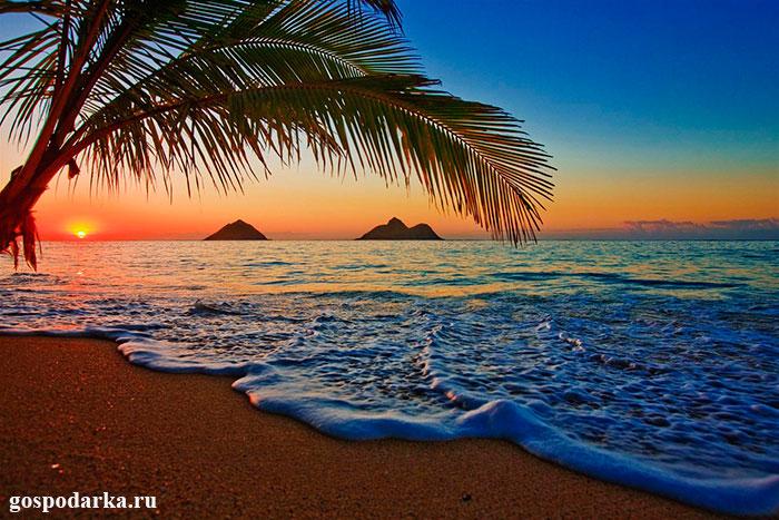 Закат-на-Гавайях