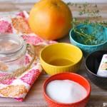 Как сделать скраб из сахара, тимьяна и грейпфрута?