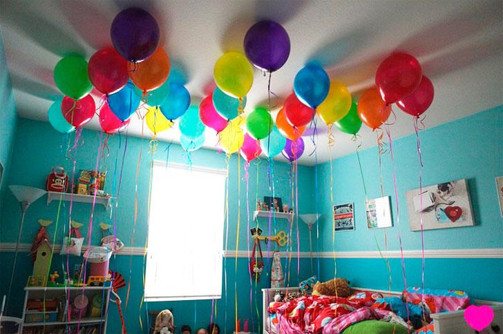 детская-комната-украшенная-воздушными-шарами