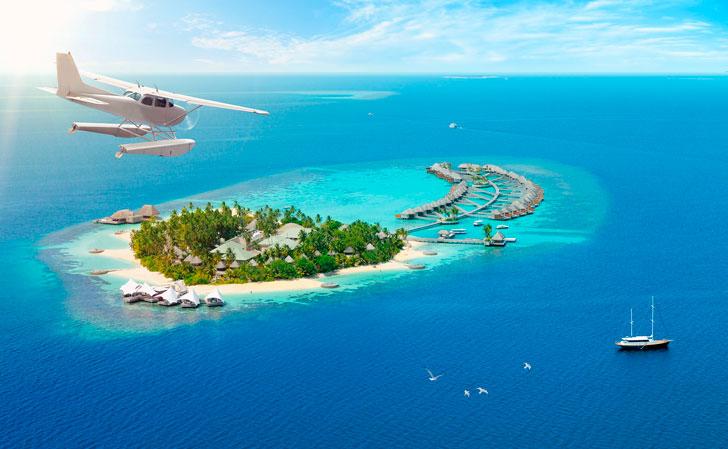 полет-на-гидроплане-над-Мальдивами