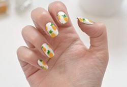 Как сделать ананасовый дизайн ногтей?