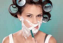 Женское бритьё лица: мифы и факты