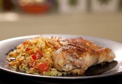 Мексиканский рецепт куриных бедрышек с рисом
