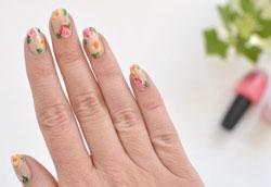 Цветочный маникюр: пошаговая инструкция с фото