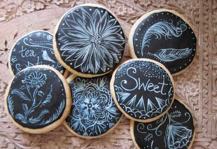 вкусное расписное печенье