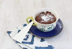 Шоколадный кекс в кружке: простой пошаговый рецепт