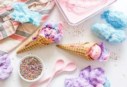 Мороженое со сладкой ватой: простой пошаговый рецепт