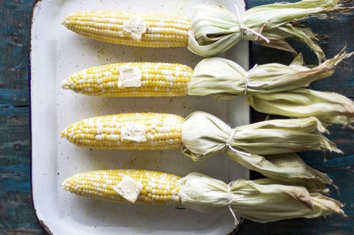 кукуруза из духовки