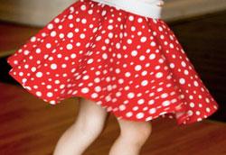 Как сшить детскую юбку в стиле Мини Маус?